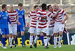 Hamilton Accies v St Johnstone..23.10.10  .Simon Mensing celebrates his penalty.Picture by Graeme Hart..Copyright Perthshire Picture Agency.Tel: 01738 623350  Mobile: 07990 594431
