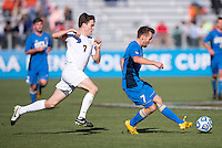 Cary, NC - December 14, 2014: Virginia won the NCAA Men's College Cup after drawing UCLA 0-0 and then winning on penalty kicks 4-2 at WakeMed Soccer Park.
