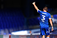 13th September 2020; Portman Road, Ipswich, Suffolk, England, English League One Footballl, Ipswich Town versus Wigan Athletic; Stephen Ward of Ipswich Town gives the thumbs up to a team mate for a pass