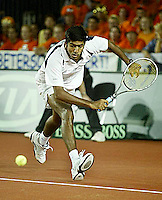 20030919, Zwolle, Davis Cup, NL-India, Rohan Bopanna in his match against Verkerk
