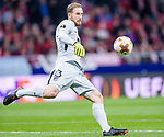 Goalkeeper Jan Oblak of Atletico de Madrid in action during the UEFA Europa League quarter final leg one match between Atletico Madrid and Sporting CP at Wanda Metropolitano on April 5, 2018 in Madrid, Spain. Photo by Diego Souto / Power Sport Images