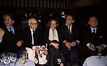 LUIGI MAGNI, MARIO MONICELLI, GABRIELLA PESCUCCI, VITTORIO GASMANN E ALBERTO SORDI<br /> FESTA PER L'OSCAR A GABRIELLA PESCUCCI - GILDA CLUB ROMA  1994