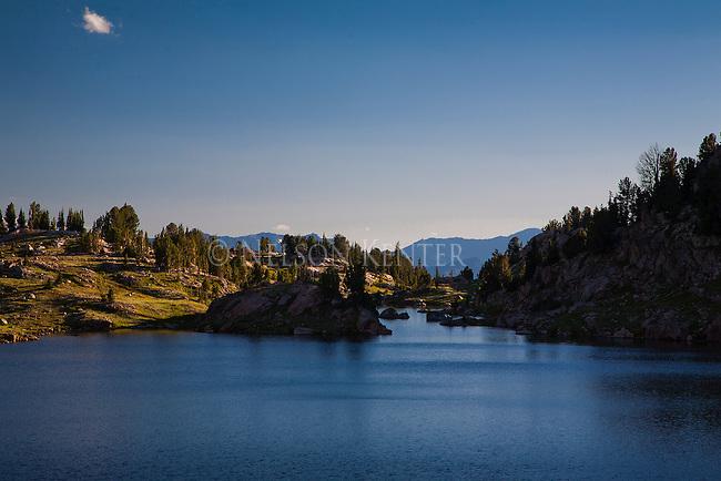 Sunset on North Hidden Lake in Montana's Beartooth Wilderness area
