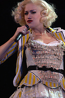 122105_MSFL<br /> <br /> DO NOT GIVE AGENCY OR PHOTOGRAPHER CREDIT ON THIS PHOTO <br /> <br /> SUNRISE; FL- DECEMBER 21;  36-year-old pop star Gwen Stefani who announced 24 hours ago that she is pregnant with her first baby with husband  Gavin Rossdale, 38, closed out her  Harajuku Lovers 2005 Tour at the Bank Atlantic Center in Sunrise, Florida (Photo by Storms Media Group) <br /> <br /> People; Gwen Stefani <br /> <br /> Must call if interested <br /> Michael Storms<br /> Storms Media Group Inc.<br /> 305-632-3400 - Cell<br /> MikeStorm@aol.com