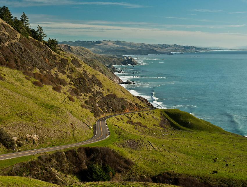 California Highway 1, Northern California.