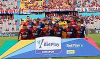 MEDELLÍN - COLOMBIA, 07-02-2020:Jugadores del Independiente Medellín  posan para una foto previo al partido entre Independiente Medellín  y Patriotas Boyacá por la fecha 4 de la Liga BetPlay I 2020 jugado en el estadio Atanasio Girardot  de la ciudad de Medellín. / Players of Independiente Medellin pose to a photo prior match between Independiente Medellin and Patriotas Boyaca for the date 4 as part of BetPlay League I 2020 played at Atanasio Girardot stadium in Medellin. Photo: VizzorImage / Donaldo Zuluaga / Cont /