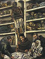 GUTIERREZ SOLANA, José (1886-1945). The Ossuary. 1931. Oil on canvas. SPAIN. Madrid. Mapfre Vida Cultural Foundation.