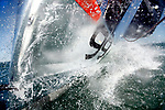 Onboard the IMOCA Open 60 Alex Thomson Racing Hugo Boss during a training session before the VendÈe Globe in the English Channel..The VendÈe Globe is a round-the-world single-handed yacht race, sailed non-stop and without assistance.
