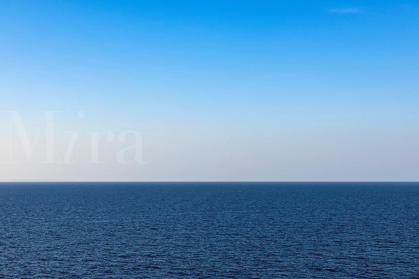 Sea and sky horizon.