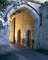 The internal archway of the stone Gatehouse