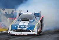 Nov. 10, 2011; Pomona, CA, USA; NHRA funny car driver Tim Wilkerson during qualifying at the Auto Club Finals at Auto Club Raceway at Pomona. Mandatory Credit: Mark J. Rebilas-.
