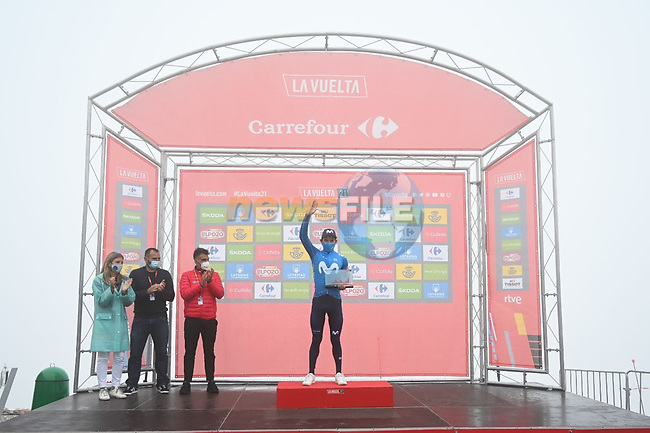 Miguel Angel Lopez Moreno (COL) Movistar Team wins Stage 18 of La Vuelta d'Espana 2021, running 162.6km from Salas to Alto del Gamoniteiru, Spain. 2nd September 2021.   <br /> Picture: Cxcling | Cyclefile<br /> <br /> All photos usage must carry mandatory copyright credit (© Cyclefile | Cxcling)