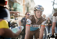 Oliver Naesen (BEL/AG2R-La Mondiale), happy with 2nd place, post-race<br /> <br /> 110th Milano-Sanremo 2019 (ITA)<br /> One day race from Milano to Sanremo (291km)<br /> <br /> ©kramon