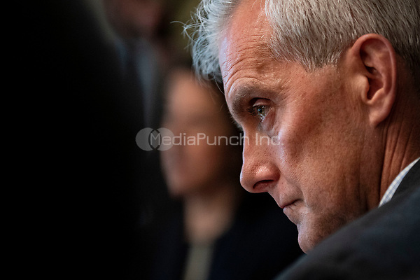 United States Secretary of Veterans Affairs Denis McDonough, listens during a cabinet meeting with U.S. President Joe Biden at the White House in Washington, D.C., U.S., on Tuesday, July 20, 2021. Biden administration officials say they're starting to see signs of relief for the global semiconductor supply shortage, including commitments from manufacturers to make more automotive-grade chips for car companies. <br /> Credit: Al Drago / Pool via CNP /MediaPunch