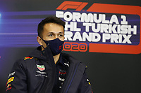 12th November 2020; Istanbul Park, Istanbul, Turkey;  FIA Formula One World Championship 2020, Grand Prix of Turkey, 23 Alexander Albon THA, Aston Martin Red Bull Racing pre race press conference