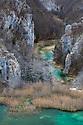 Limestone gorge, Plitvice Lakes National Park, Croatia. January.