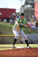Brendon Little (34) of the Eugene Emeralds pitches against the Salem-Keizer Volcanoes at Volcanoes Stadium on July 24, 2017 in Keizer, Oregon. Eugene defeated Salem-Keizer, 7-6. (Larry Goren/Four Seam Images)