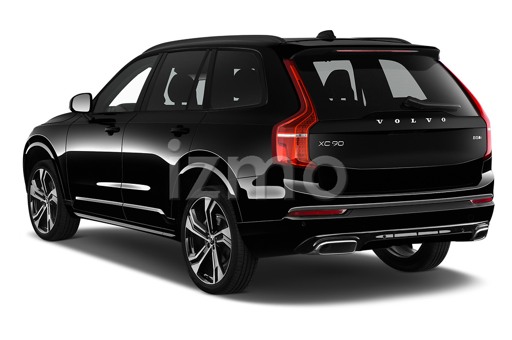 Car pictures of rear three quarter view of a 2020 Volvo XC90 R-Design 5 Door SUV angular rear