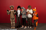 Third grade play costumes group posing, school for musically gifted children arts enrichment
