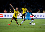 Manchester City midfielder Fernandinho Roza (r) dribbles Borussia Dortmund midfielder Moritz Leitner (l) during their 2016 International Champions Cup China match at the Shenzhen Stadium on 28 July 2016 in Shenzhen, China. Photo by Marcio Machado / Power Sport Images