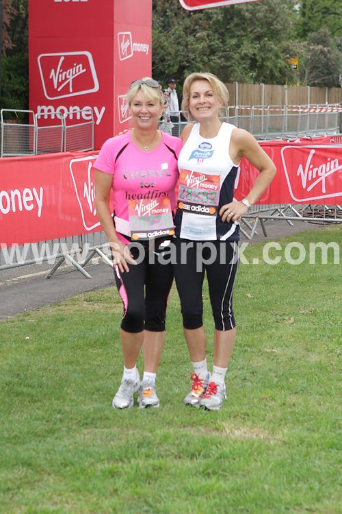 **ALL ROUND PICTURES FROM SOLARPIX.COM**                                             **WORLDWIDE SYNDICATION RIGHTS**                                                                                  Caption:Celebrity runners at the start in the 2011 Virgin London Marathon  London, UK                                                                              This pic:Cheryl Baker and Jay Aston                                                                                              JOB REF:13161        WMB       DATE:17.04.2011                                                            **MUST CREDIT SOLARPIX.COM OR DOUBLE FEE WILL BE CHARGED**                                                                      **MUST AGREE FEE BEFORE ONLINE USAGE**                               **CALL US ON: +34 952 811 768 or LOW RATE FROM UK 0844 617 7637**