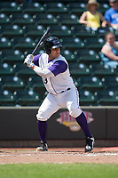 Daniel Gonzalez (13) of the Winston-Salem Dash at bat against the Buies Creek Astros at BB&T Ballpark on April 16, 2017 in Winston-Salem, North Carolina.  The Dash defeated the Astros 6-2.  (Brian Westerholt/Four Seam Images)
