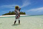 Réserve naturelle de l'île aux Cocos. Cocos island, nature reserve dedicated to birds..