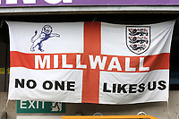 Millwall FC 'No One Likes Us' flag on display during Millwall vs Middlesbrough, Sky Bet EFL Championship Football at The Den on 8th July 2020