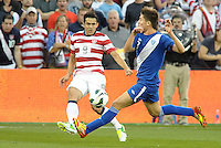 U.S forward Herculez Gomez (9) gets a cross in..USMNT defeated Guatemala 3-1 in World Cup qualifying play at LIVESTRONG Sporting Park, Kansas City, KS.