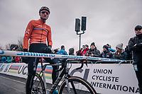 Mathieu van der Poel (NED/Corendon-Circus) at the start<br /> <br /> Elite Men's Race<br /> UCI CX Worlds 2018<br /> Valkenburg - The Netherlands
