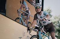 Jan Bakelants (BEL/AG2R-LaMondiale) signing on<br /> <br /> 104th Tour de France 2017<br /> Stage 16 - Le Puy-en-Velay › Romans-sur-Isère (165km)