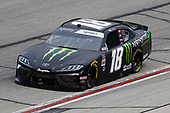 HAMPTON, GEORGIA - JUNE 06: Riley Herbst, driver of the #18 Monster Energy Toyota, drives during the NASCAR Xfinity Series EchoPark 250 at Atlanta Motor Speedway on June 06, 2020 in Hampton, Georgia. (Photo by Chris Graythen/Getty Images)