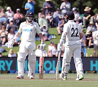 Henry Nicholls and Kane Williamson of New Zealand during day two of the second International Test Cricket match between the New Zealand Black Caps and Pakistan at Hagley Oval in Christchurch, New Zealand on Monday, 4 January 2021. Photo: Martin Hunter / lintottphoto.co.nz
