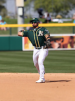Franklin Barreto - Oakland Athletics 2020 spring training (Bill Mitchell)