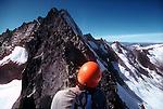 North Cascades National Park, Forbidden Peak, North Ridge, National Outdoor Leadership School climbers, Cascade Mountains, Washington State, Pacific Northwest, U.S.A.,