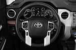 Car pictures of steering wheel view of a 2020 Toyota Tundra Limited-5.7L-Crew-Max-Short-Bed 4 Door Pick-up Steering Wheel