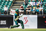 Jerry Nqolo of South Africa hits a shot during Day 1 of Hong Kong Cricket World Sixes 2017 Group A match between Marylebone Cricket Club vs South Africa at Kowloon Cricket Club on 28 October 2017, in Hong Kong, China. Photo by Yu Chun Christopher Wong / Power Sport Images