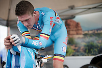 Jurgen Van den Broeck (BEL/Lotto-Soudal) warming up<br /> <br /> Elite Men TT<br /> UCI Road World Championships / Richmond 2015