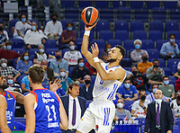 30th September 2021; Madrid, Spain:  Euroleague Basketball, Real Madrid versus Anadolu Efes Istanbul;  Nigel Williams-Goss of team Real Madrid takes a shot during the Matchday 1 between Real Madrid and Anadolu Efes Istanbul