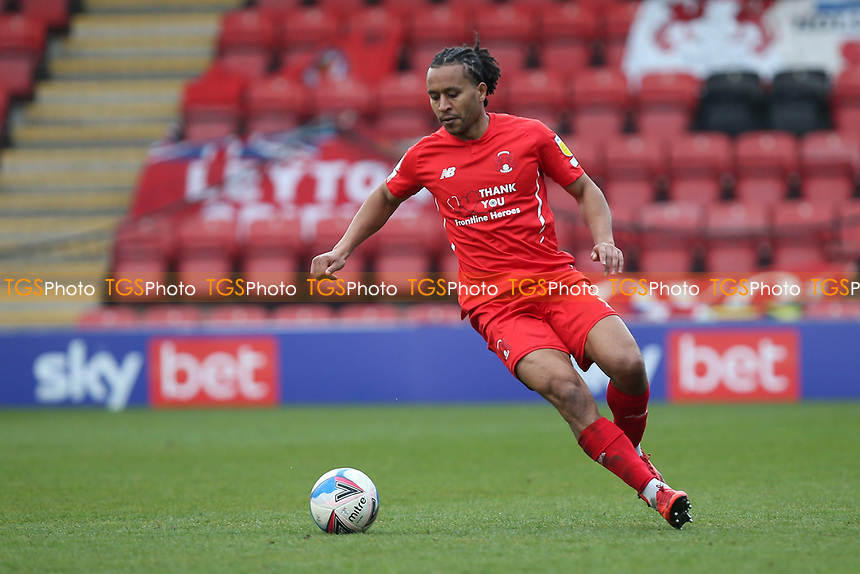 Joe Widdowson of Leyton Orient during Leyton Orient vs Oldham Athletic, Sky Bet EFL League 2 Football at The Breyer Group Stadium on 27th March 2021