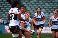 Action from the 2021 Farah Palmer Cup women's rugby match between North Harbour Hibiscus and Taranaki Whio at QBE Stadium in Albany, New Zealand on Sunday, 8 August 2021. Photo: Dave Lintott / lintottphoto.co.nz