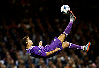 Football: Uefa Champions League Final: Juventus vs Real Madrid. Cardiff, Millennium Stadium, June 3, 2017.<br /> Real Madrid's Cristiano Ronaldo performs an overhead kick during the Uefa Champions League final match between Juventus and Real Madrid at Cardiff's Millennium Stadium, Wales, June 3, 2017. <br /> UPDATE IMAGES PRESS/Isabella Bonotto