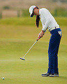 Michelle Wei of USA putts on the 6th green during the first round play of the  Ricoh Woman's British Open to be played over the Championship Links from 28th to 31st July 2011; Picture Stuart Adams, SAFOTO. www.safoto.co.uk; 28th July 2011