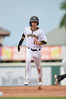 Bradenton Marauders Hudson Head (17) running the bases during Game One of the Low-A Southeast Championship Series against the Tampa Tarpons on September 21, 2021 at LECOM Park in Bradenton, Florida.  (Mike Janes/Four Seam Images)
