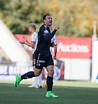 Conrad Balatoni celebrates his goal by sucking his thumb