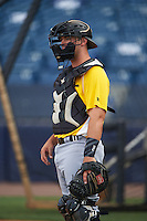 Bradenton Marauders catcher Erik Lunde (54) during practice before a game against the Tampa Yankees on April 11, 2016 at George M. Steinbrenner Field in Tampa, Florida.  Tampa defeated Bradenton 5-2.  (Mike Janes/Four Seam Images)