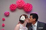 Ellen Cook and Julio Herrera wedding in Green Bay, Wis., on June 28, 2014.