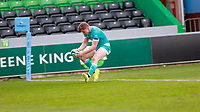 17th April 2021; Twickenham Stoop, London, England; English Premiership Rugby, Harlequins versus Worcester Warriors; Hearle of Worcester warriors scoring his try in the dying minutes of the second half