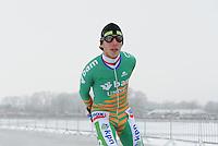 MARATHONSCHAATSEN: ELBURG: Veluwemeer,  25-01-2013, Schaatsseizoen 2012-2013, KPN NK Marathon Natuurijs, Jorrit Bergsma  (A13), ©foto Martin de Jong