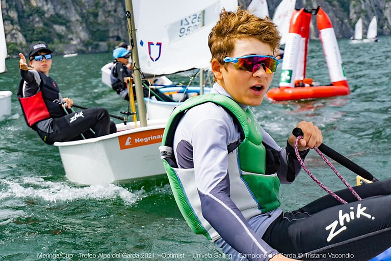 Rocco Wright gets himself into a race lead in the Optimist Worlds 2021